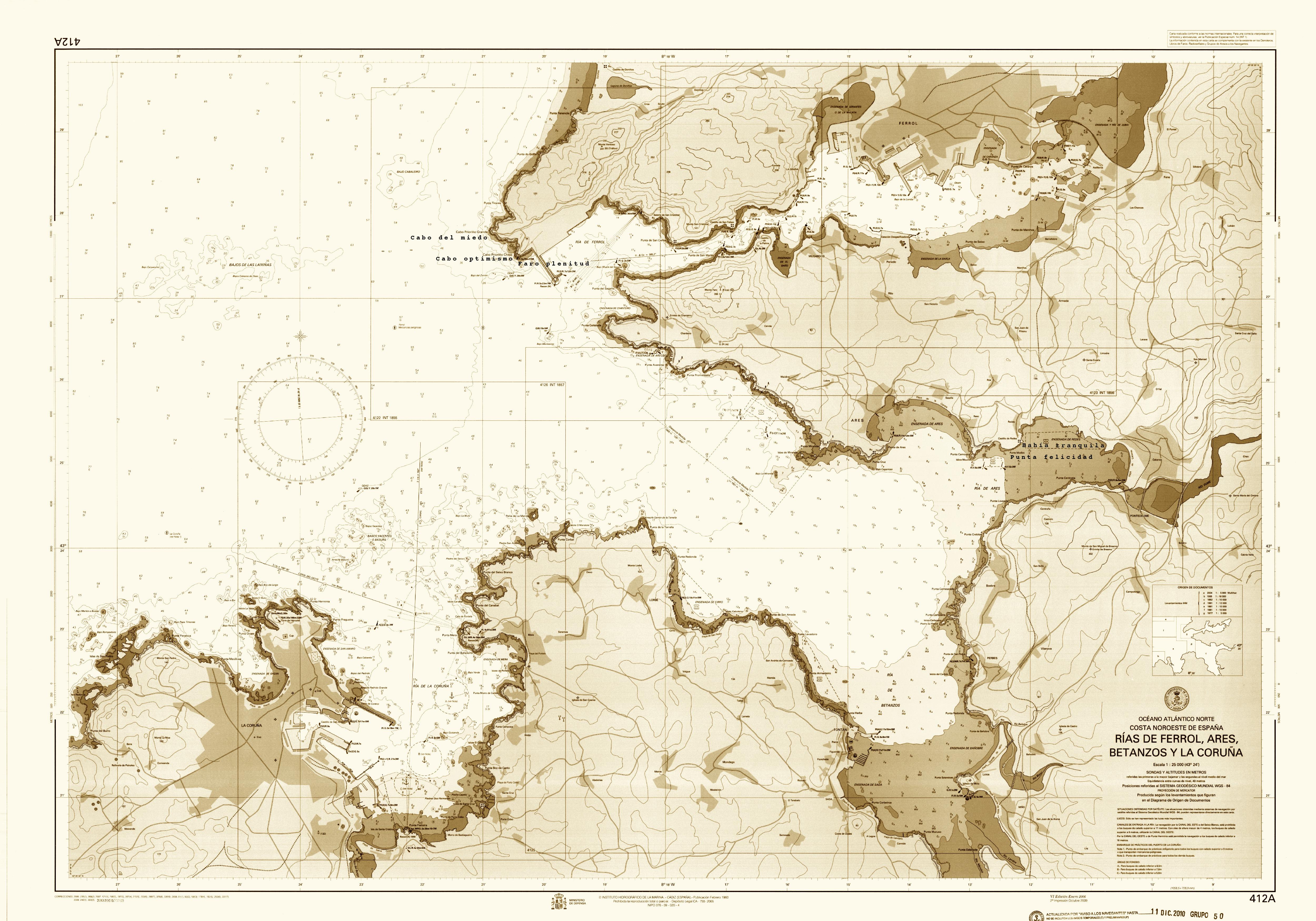 Carta de Navegación Rías de Ferrol, Ares y Betanzos